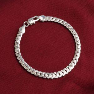 Хип-хоп цепи Мода браслет Серебро Золото Цвет Ссылка браслет ювелирных изделий 5мм 20см Snake плоские цепи браслеты для мужчин Женщины Hip Hop Аксессуары
