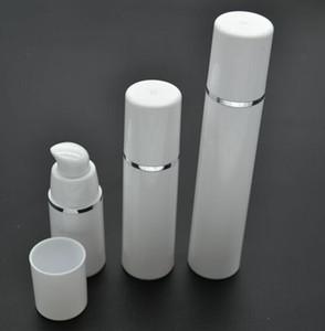 15ml 30ml 50ml Botella de bomba Airless blanca de alta calidad - Dispensador de crema cosmética recargable de viaje para el cuidado de la piel, envase de embalaje de loción PP