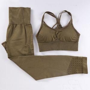 BINAND Seamless Yoga Set Women Gym Clothing Leggings Sport Women Fitness Top Gym Set Sports Suit Sports Bra Sportswear Women T200324