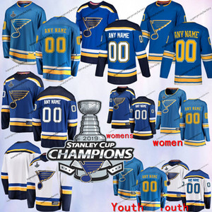 2019 Stanley Cup Champions Jersey Custom St. Louis Blues Any Number Name men women youth Blue Third White Tarasenko Binnington O'Reilly jers