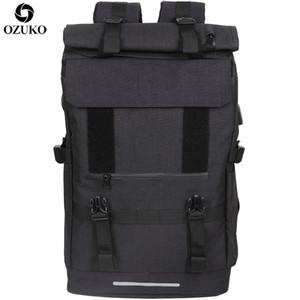 Ozuko новый 40l большой емкости путешествия рюкзаки мужчины Usb заряд ноутбук рюкзак для подростков многофункциональный путешествия мужской школьный мешок MX190709