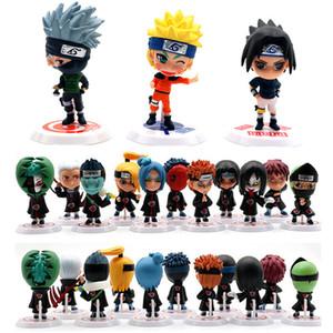 6/11 adet / takım Anime Naruto Action Figure oyuncaklar 7 cm Zabuza Haku Kakashi Sasuke Ninja PVC modeli bebek Koleksiyonu çocuklar ev dekor Oyuncak Y200421