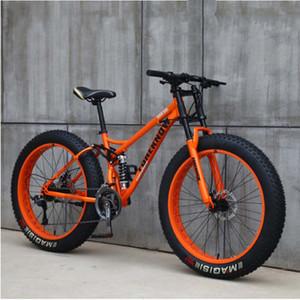 Dianteira e traseira duplo de 26 polegadas de 27 velocidades off-road praia de absorção de choque snowmobile velocidade variável ultra-wide 4.0 grande pneu da bicicleta de montanha
