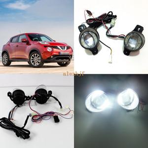 July King 1600LM 24W 6000K LED Light Guide Q5 Lens Fog Lamp+1000LM 14W Day Running Lights DRL Case for Nissan Juke 2015-2020