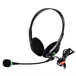 Leggero 3.5mm Wired Cuffie di affari con il microfono Office Home Working Gamer Headset per il telefono mobile del computer Tablet PC
