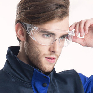 Alta Qualidade de protecção Unbreakable Óculos Anti-spray de cobertura Blinker Limpar Óculos Anti Nevoeiro Poeira Gotas PC Blinkers Lab Goggles Eye