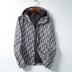 브랜드의 새로운 가을 겨울 남성 의류 지퍼 재킷 패션 캐주얼 긴 소매 후드 윈드 브레이커 재킷 남성 여성 스포츠 자켓 코트