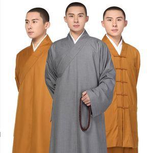 Özel Taçi Ceket pantolon takım elbise Giyim Ücretsiz Kargo Shaolin Budist Keşiş Elbiseler Kung Fu Elbise Üniformalar arhat Uzun elbise Standard keşiş
