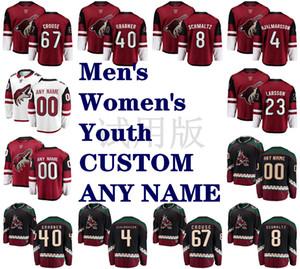 Arizona Coyotes Maglie 67 Lawson Crouse Jersey 40 Michael Grabner 8 Nick Schmaltz 4 Niklas Hjalmarsson Hockey su ghiaccio pullover su ordinazione cucita