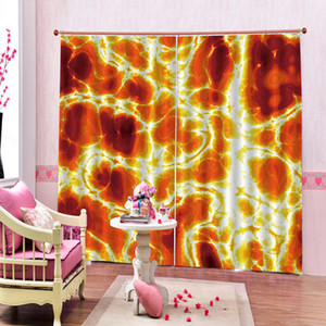 Wholesale 3d Curtain Window Fantasy Red Gorgeous Color Customize Your Favorite Beautiful Blackout Curtains For You