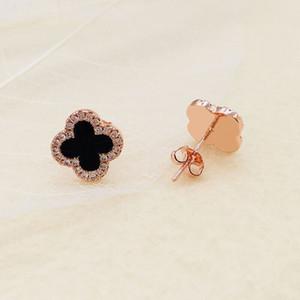 quattro fogli di lusso sexy del progettista delle donne gioielli orecchini orecchini trifoglio design paio di argento regalo di fidanzamento orecchini in oro firmati