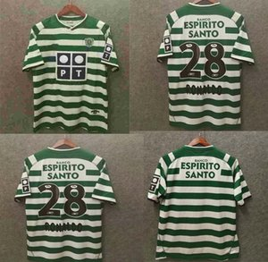 new Sporting CP 03 04 Lisboa retro soccer jerseys ronaldo 2003 2004 Lisbon JClassic Vintage football shirts top thailand quality