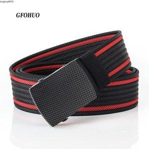 Gfohuo, Diseño Lujo Personalidad, Cinturones Nailon Con Hebilla Lega Táctica Para Hombre, Cinturón De Lona Deportivo