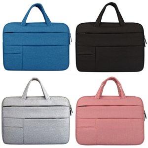 Moda couro Laptop Bag Briefcase Homens e Mulheres de Negócios Briefcase 11 13 15,6 Bolsa de Ombro Laptop Bag # 253