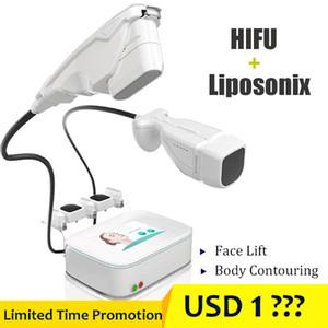 5 глав HIFU кожи лица Подъемное машина LipoSonix HIFU фейслифтинг Loss Стройный Вес оборудования Анти Wrinkes брюшную сокращение жира