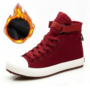 New 2019 Winter Boots Men Canvas Shoes High top High Quality Men's Boots Non-slip Male Warm Winter Black Ankle Botas ZH2953