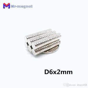 2019 슈퍼 imanes 100PCS 6X2 네오디뮴 자석 디스크 영구 N35의 NdFeB 작은 라운드 강력한 강한 마그네틱 자석의 X 2mm를는 6mm
