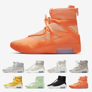 Free Shipping FOG Fear of God X 1 SA 180 Raid Boots Light Bone Luxury Orange Pulse Running Shoes Sail Outdoor sports Sneakers 36-45