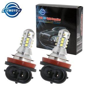 Işık torna Ampul Far İçin DC12V Running Sis Lambası Gündüz oto LED cree cips 80W 16LED DRL ile LYMOYO Araba H8 H11