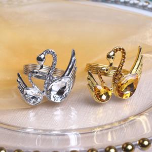 Holder lega Mer portatovagliolo Swan tovagliolo Anello Oro Argento portatovagliolo di alta qualità decorazione della Tabella