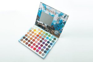 2019 Newest Romanky Eye Makeup Water Light New Fashion Beauty Eye Shadows Wire Red 63 colors Eyeshadow Palette Free shipping