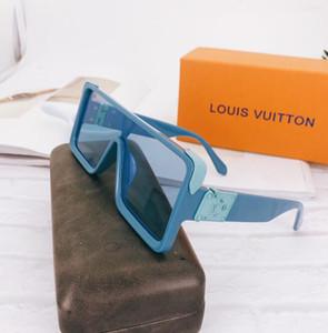 2020 Best quality glass lens sun glasses Designer Fashion Gold Frame Blue Mirror Sunglasses For Men and Women UV400 Sport Sun glasses