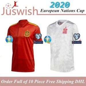 2020 A. INIESTA Soccer Jerseys Mens ISCO DIEGO COSTA Home Away Jerseys Spain ASENSIO PIQUE Football Shirts Camisetas de fútbol Uniforms