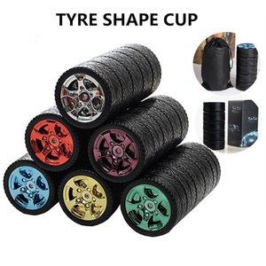 300ML 타이어 자동차 머그컵 물병 스테인레스 스틸 크리 에이 티브 커피 차 컵 휴대용 보온병 사무실 물 컵 차 컵