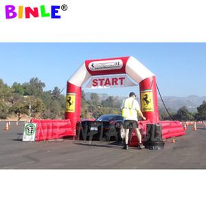Sport event Use inflável start / Finish Line arch Chute arch com banner para celebração