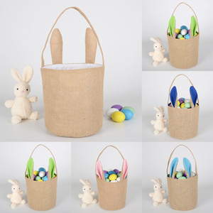 3D Rabbit Easter Basket Fashion Lucky Egg Basket Rabbit Printed Candy Bag Baby Toy Storage Bag Holiday Gift XD23084