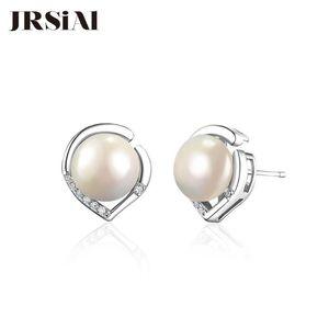 JRSIAL 925 Sterling Silver Jewelry água doce da pérola brincos da moda coreana simples Mulher Atacado