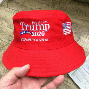 Trump Presidente Balde Chapéu Bandeira Universal De Arroz Pescador Popular Boutique 2020 Manter Anerica Gkeat Eleição Rodada Cap Algodão Puro 8 8dk p1
