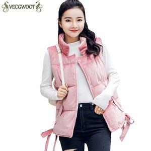 Autunno Inverno New Fashion Breve cotone Ma3 jia3 Donne tinta unita Gilet di cotone di grandi dimensioni Donne Stand colletto giacca giacca S755