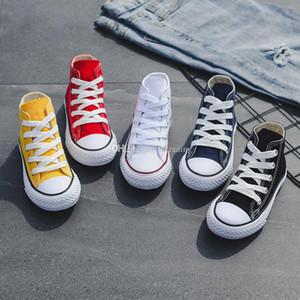 Zapatos de niños zapatillas de lona para bebés Zapatos de ocio transpirables zapatos de diseño para niños, niños y niñas High top Shoes 5 colores C6542