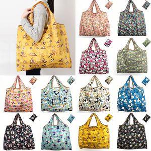 Водонепроницаемые нейлоновые складные сумки для хранения Многоразовая сумка для хранения Экологичные сумки для покупок Большая сумка для хранения дома WX9-203