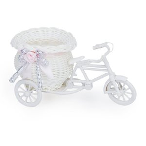 Handmade Tricycle Bike Shape Flower Basket for Flower Storage Arrangement