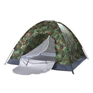방수 3 ~ 4 인 가족 돔 캠핑 돔 텐트 위장 하이킹 야외 휴대용 미국 주식