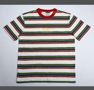 2020 Streetwear Erkekler kadınların nakış Amaç Tur tişört A $ AP ASAP Rocky Tişörtlü Dylan Erkekler Rasgele Kısa kollu tişört Tee Tops çizgili