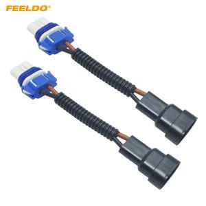 FEELDO 2PCS voiture 9005 en céramique Socket Heavy Duty céramique faisceau de câblage Connecteur pour phares Ampoule Socket Holder Adaptateur de câblage # 2153
