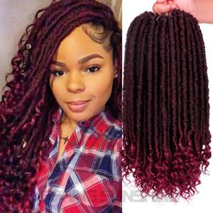 Diosa Faux Locs Cabello Crochet Dreadlocks Extensiones de cabello Kanekalon Jumbo Dreads Peinado Ombre Rizado Fauxlocs Crochet Trenzas