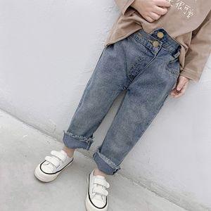 muchachos la manera del resorte de los pantalones vaqueros casuales los niños de 2-6 años los niños todo-fósforo de los pantalones de mezclilla sueltos bebé niña Nabo pantsMX190916