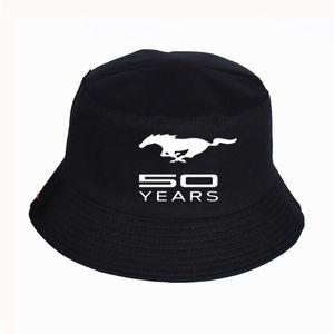 Мода Ford Mustang печати шлемов ведра женщин Mens Панама Bucket Hat Ford Mustang Design Flat Sun Visor Рыбалка Рыбак Hat