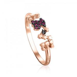 الدب المجوهرات 925 فضة خواتم الذهب ارتفع فيرميل سان فالنتين خاتم الحب تناسبها المجوهرات الأوروبية هدية نمط C915305550