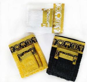 Дизайнерское Полотенце 3 шт. Набор полотенце хлопковое высокое мягкое качество банное полотенце люкс вышитые квадратные удобные мочалкой моды klw1914