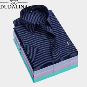Dudalina Summer Slim Fit Camicie casual Camicia a maniche corte a righe Social Men Dress Shirts Chemise Homme Reserva Aramy Aleatory