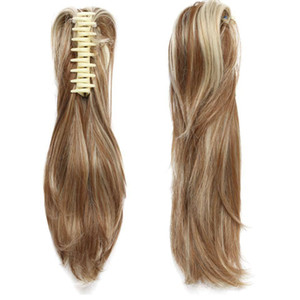 "Mode 12 ""Diy Pony Tail Court Clip Bouclés En Griffe Queue De Cheval Extensions de Cheveux W Synthétique Postiche Noir Brun Blonde 95g"