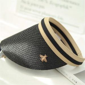 Bee-Sommer-Hut Frau Visiere Casquettes Caps Designer Cap-Strand-Hüte Hot Top Beanie 5 Farben in hohem Grade Qualitäts