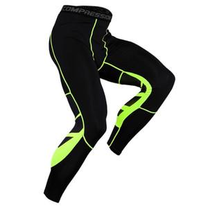 Erkek Spor Spor Salonu Koşu Pantolon Vücut Geliştirme Esnek Sıkı-kurutma egzersiz tozluk bisiklet Sıkıştırma Tayt