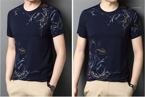 Floral Mens Casual Casual Coffret Mode Pullover Style Imprimé Short Chinois T-shirts Tshirts Cou Designer Tees Nixii