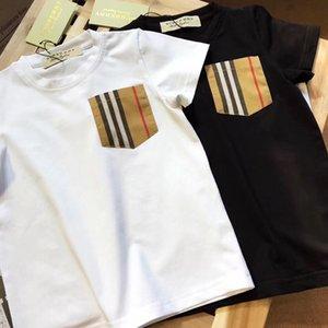 Babys diseñador T Shirts Boy camiseta de la niña Ropa Kid Tops Negro Blanco manera ocasional de impresión de manga corta